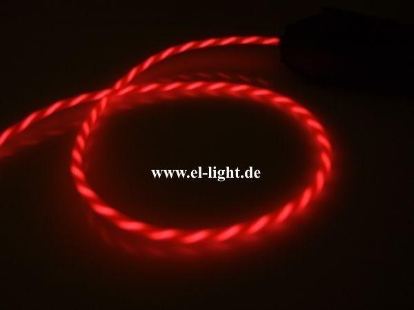 El-Schnur 3mm Lauflicht 2m pink - El-Light
